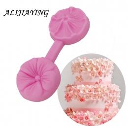 Kwiat silikonowe formy Sugarcraft tłoczone kremówka ciasto dekorowanie narzędzia Fimo glina cukierki galaretki czekoladowe Gumpa