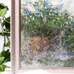 CottonColors folie okienne folia okienna domu dekoracyjne bez kleju 3D statyczne dekoracyjne szkło okienne naklejki 60x200 cm