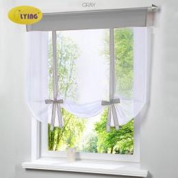 Pływające okno Tulle przędzy kuchnia Bay ekran zasłony do salonu dzielnik strona główna przezroczyste zasłona zasłony okno woal