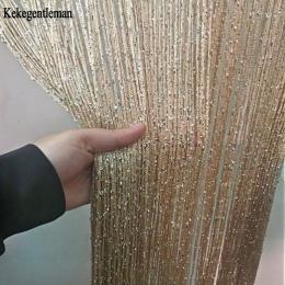 3x2.6 m zasłona sznurkowa błyszczące Tassel linii zasłony okna drzwi dzielnik zasłony salon wystrój pokoju Valance