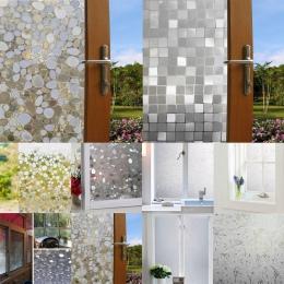 Szklane naklejki matowe nieprzezroczyste łazienka wystrój domu siebie sypialnia salon szerokości 45 cm okno ochrona prywatności