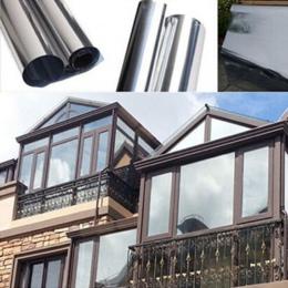 Wodoodporna folia okienna lustro półprzepuszczalne srebrny izolacji naklejki odrzucenie UV prywatności Windom odcień folie Home