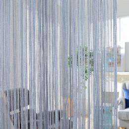 300x260 cm jednolity kolor zasłony pasek białe puste szary klasyczna linia kurtyna okno Valance pokoju dzielnik dekoracja do drz