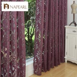 Gotowe zaciemniające zasłony niewidomych panel tkaniny na okno fioletowy zasłony salon leczenia okna fioletowy czarny biały
