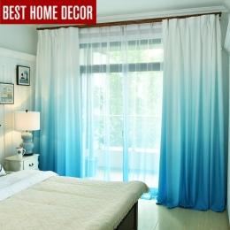 Gradient kolor okna zasłony do salonu sypialnia tiulowe zasłony kuchenne i blackout zasłony na okno stopa cieniowanie 75%