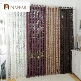 Luksusowa moda w stylu zasłony zaciemniające zasłony kuchenne okno salon zasłony do salonu panel żakardowe tkaniny drzwi