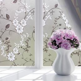 Wodoodporny matowy nieprzezroczyste szkło okienne Film pokrywa okno prywatności naklejki samoprzylepne szkła do sypialni domu fo