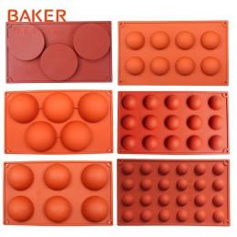 BAKER DEPOT silikonowe forma do czekolady do pieczenia demo ciasto ciasto do pieczenia okrągłe cukierki galaretki pudding mydło
