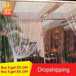 30 M koraliki zasłony akrylowa kryształowa kurtyna ośmiokątny koralik zasłony na drzwi świąteczne Party kryty domu dekoracje ślu