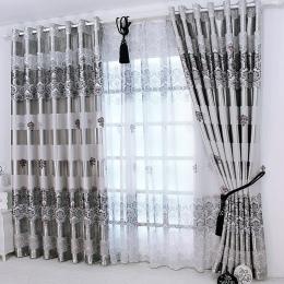 1 pc 2019 nowy zasłony okienne zasłony europejska nowoczesny elegancki szlachetny druku odcień zasłony do salonu sypialni