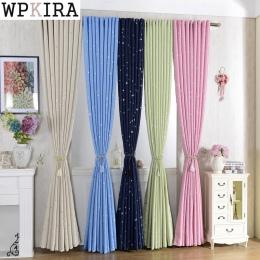 Błyszczące gwiazdy dzieci tkaniny zasłony dla dzieci chłopiec dziewczyna sypialnia salon niebieski/różowy zasłony zaciemniające