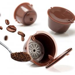 3 sztuk wielokrotnego użytku Nescafe kapsułka kawy Dolce Gusto filiżanka filtrowa wielokrotnego napełniania czapki łyżka szczot