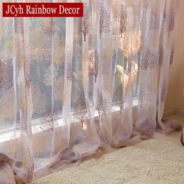 Japoński styl Sheer Tulle zasłony do salonu wypalenie zasłony dla dzieci sypialnia okno kuchnia zasłony rolety zasłony