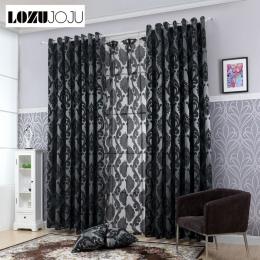 LOZUJOJU geometria zasłony do salonu tkanina na zasłony panel zasłony okiennej semi-blackout łóżko zasłony pokojowe s czarny gru