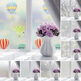 Wodoodporne samoprzylepne folie okienne folia dekoracyjna przesuwne z matowego szkła drzwi naklejki łazienkowe na okno Transluce