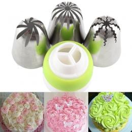 Mujiang 4 sztuk/zestaw rosyjski końcówki do szprycy cukierniczej łącznik Cupcake ciasto dekorowanie DIY deser pieczenia ciasto z
