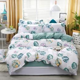 A8 nowy niebieski Liść bananowca wzór pościel ustawić łóżko okładziny kołdra pokrywa prześcieradło poszewki pokrywa zestaw do 1.