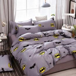A5 zestaw pościeli wysokiej jakości Bat-man wzór łóżko okładziny kołdra pokrywa prześcieradło poszewki pokrywa zestaw do 1.2/1.5