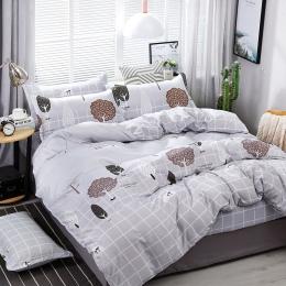 A32 4 sztuk/zestaw psychodeliczny las Cartoon drzewa drukowanie zestawu pościeli łóżko okładziny kołdra pokrywa prześcieradło po