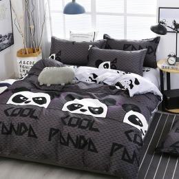 A15 chiński styl Cartoon Panda wzór pościel zestaw pościeli kołdra okładka prześcieradło poszewki na poduszki pokrywa zestaw 4 s