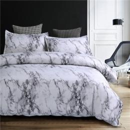 Marmuru wzór pościel zestaw kołdra pokrywa zestaw 2/3 sztuk łóżko – zestaw Twin Double Queen kapa na kołdrę pościel (bez blachy