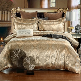 Luksusowe zestawy pościeli królowej King Size żakardowe kołdra pokrywa zestaw pościeli pościel pościel kapa na kołdrę