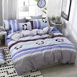 4 sztuk/zestaw wysokiej jakości wygodne Panda Cartoon drukarnie rodzina zestaw pościel łóżko okładziny kołdra pokrywa prześciera