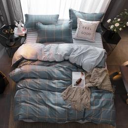 3/4 sztuk nowoczesne pościel zestaw Super łóżko typu king size pościel druk reaktywny kołdra pokrywa zestaw duszpasterska styl d