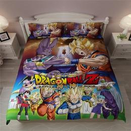 Drop Shipping 3D Dragon Ball Z pościel zestaw drukuj kołdra pokrywa zestaw Z poszewki na poduszkę łóżko – zestaw tekstylia domow