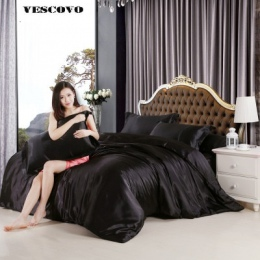 100 chiński jedwabny zestaw pościeli kołdra pokrywa zestaw jedwabiście obejmuje łóżka 3/4 sztuk Twin królowej King Size