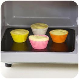 Urijk losowy kolor Muffin formy silikonowe formy do pieczenia Cupcake Liner stojak na babeczki DIY pieczenia ciasto dekorowanie