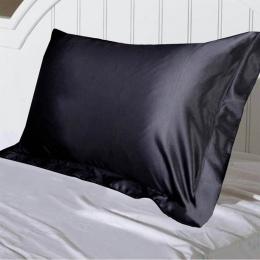 Junejour emulacji Silk Satin poszewka na luksusowe poszewka na poduszkę na łóżko rzut wygodne pojedyncze stałe kolorowa poduszka