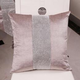 Dekoracyjna poszewka na poduszkę flanelowe diamentowe patchwork nowoczesne proste rzuć poszewka na poduszkę Party Hotel tekstyli