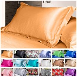 1 pc czysty emulacji Silk Satin poszewka na poduszkę poszewka na poduszkę Multicolor 48*74 cm