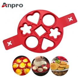 Anpro Pancake Maker Nonstick narzędzie do gotowania jajko pierścień ekspres naleśnik przyrząd do gotowania jajek i sera Pan odwr