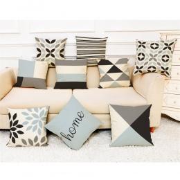 Domu proste geometryczne poduszkę poszewka na poduszkę poszewka na poduszkę pościel drukowane zmywalny bawełniana poszewka na po
