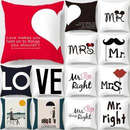 45*45 cm nowy plac użytkowa rzuć miłośników para poszewka na poduszkę Cartoon wzór sweetheart poszewka na poduszkę dla domu posz