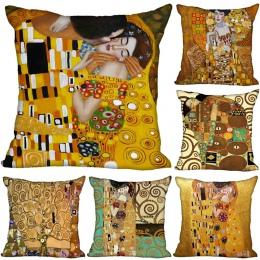 Dostosowane nowoczesne Gustav Klimt druku miękki poliester Decprative poszewka na poduszkę poszewka na poduszkę poszewki Home ro