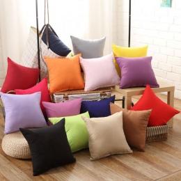 Stałe kolory moda kwadratowe poduszki 45*45 cm Hot biurowe pokrywa nowy 1 PC miękkie rzuć poszewka na poduszkę Home bawełna