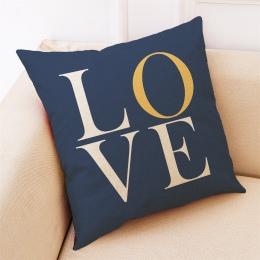 Gorąca sprzedaż poszewki na poduszki placu sypialnia mieszanka bawełny i lnu miłość geometria rzuć poszewka na poduszkę nowy dom