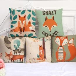 Poduszki dekoracyjne Fox drukuj poszewka na poduszkę 45*45 poszewki na poduszki strona główna dekoracyjne poszewki na poduszki ś