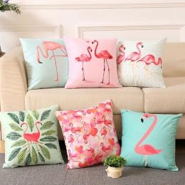 INS lato Flamingo rzut poszewka na poduszkę Home sypialnia miękkie plac poszewka na poduszkę 18 Cal/45x45 cm spadek wysyłka