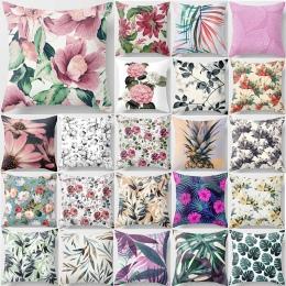 Tropikalne rośliny poszewka na poduszkę kwiat podwójne boki poduszka we wzór pokrywa mandala piękno ananas kwadratowa poszewka n