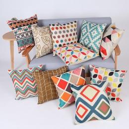 Geometryczne poszewka na poduszkę poszewka na poduszkę z bawełny pościel drukowane rzut poszewka na poduszkę poduszki dekoracyjn