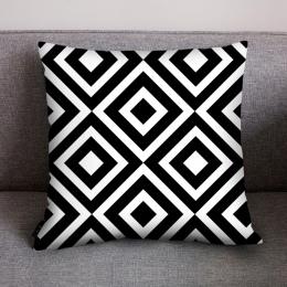Nowy boże narodzenie poszewka na poduszkę 45x45 cm geometria patchwork poliester kreatywny poszewki na poduszkę nowy prezent na