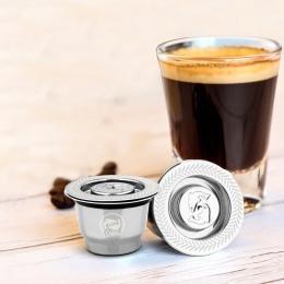 Nowa stal nierdzewna metalu 2 w 1 użycie filtr do kawy Nespresso wielokrotnego użytku kapsułki wielokrotnego napełniania Refilab