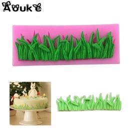 Kształt trawy ciasto dekoracyjne silikonowe formy kremówka Cookie formy czekoladowe cukierki ciasto budyń Muffin formy DIY narzę