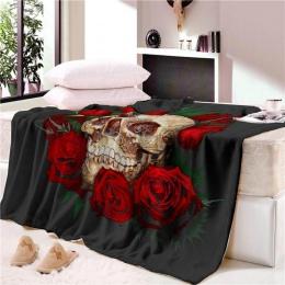 Super miękka czaszka kości gobelin Narzuta ręcznik plażowy mata koc tabeli ręcznik plażowy