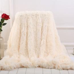 XC USHIO elegancki rzut koc na łóźko Sofa narzuta długie kudłate miękkie ciepłe pościel arkusz powietrza przewiewny koc