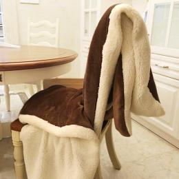 Zima koc z wełny fretka kaszmirowy koc ciepłe koce z polaru kratę Super ciepłe miękkie rzut na Sofa łóżko 7A0808